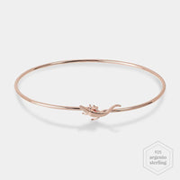 CLUSE Force Tropicale Rose Gold Alligator Bangle Bracelet CLJ10020 - Bracciale