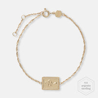 CLUSE Force Tropicale Gold Twisted Chain Tag Bracelet CLJ11022 - Bracciale