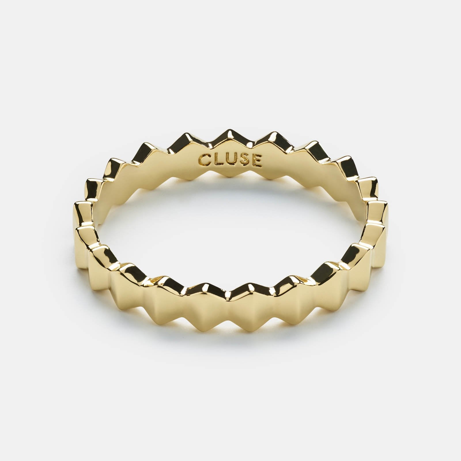 CLUSE Essentielle Gold All Hexagons Ring-52 CLJ41006-52 - Anello taglia 52
