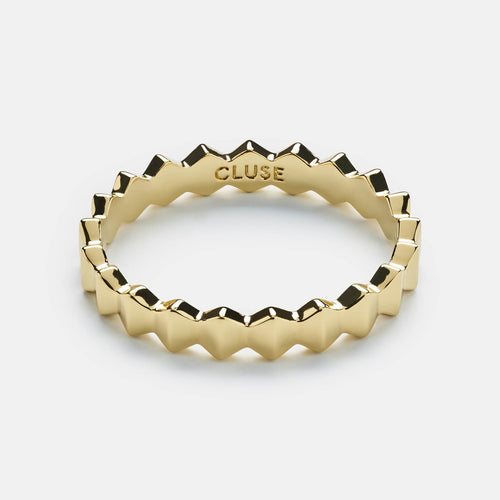 Image: CLUSE Essentielle Gold All Hexagons Ring-52 CLJ41006-52 - Anello taglia 52
