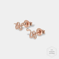 CLUSE Force Tropicale Rose Gold Snake Stud Earrings CLJ50020 - Orecchini