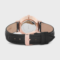 CLUSE Minuit Leather Rose Gold White/Black CW0101203020 - Chiusura e retro dell'orologio