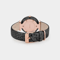 CLUSE Triomphe Leather, Black, Black Pearl/Black Python - Chiusura e retro dell'orologio