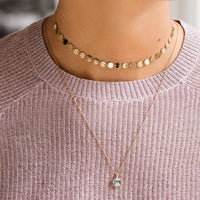 CLUSE Essentielle Gold All Hexagons Choker Necklace CLJ21003 - Collana indossata
