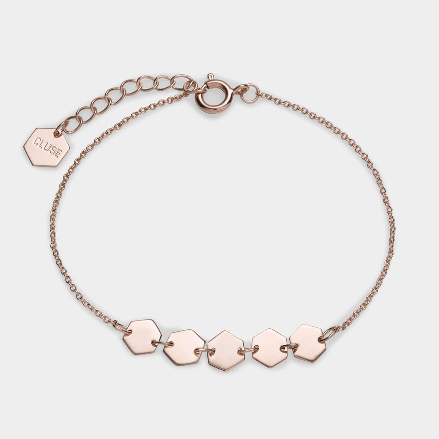 CLUSE Essentielle Rose Gold Hexagons Chain Bracelet CLJ10007 - Bracciale