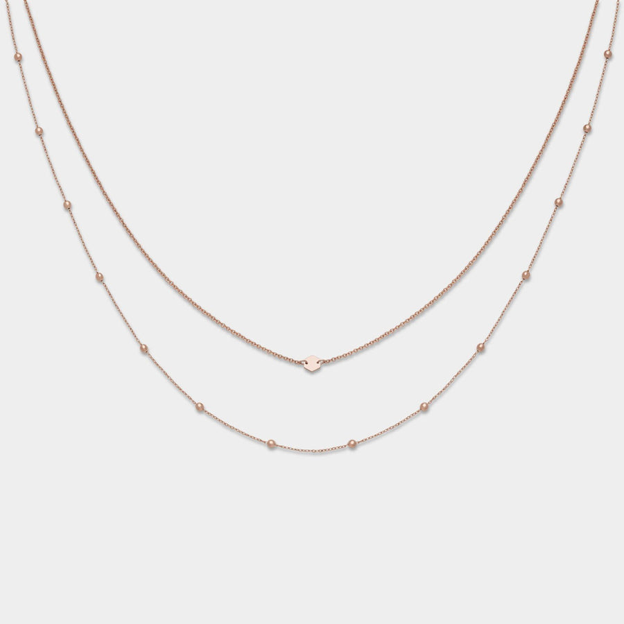CLUSE Essentielle Rose Gold Set of Two Necklaces with Petite Hexagon CLJ20004 - Collana