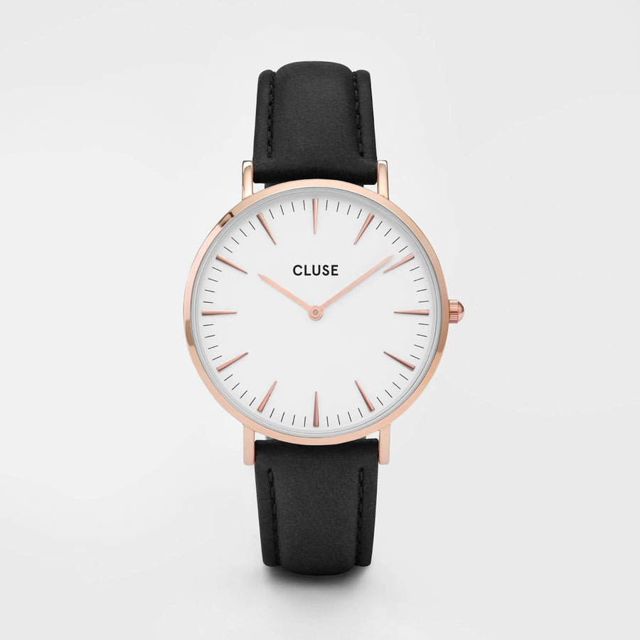 CLUSE La Bohème Rose Gold White/Black CL18008 - Orologio