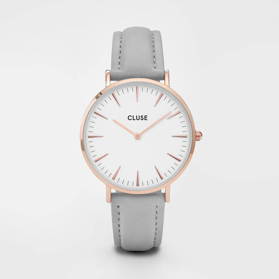 CLUSE La Bohème Rose Gold White/Grey CL18015 - Orologio