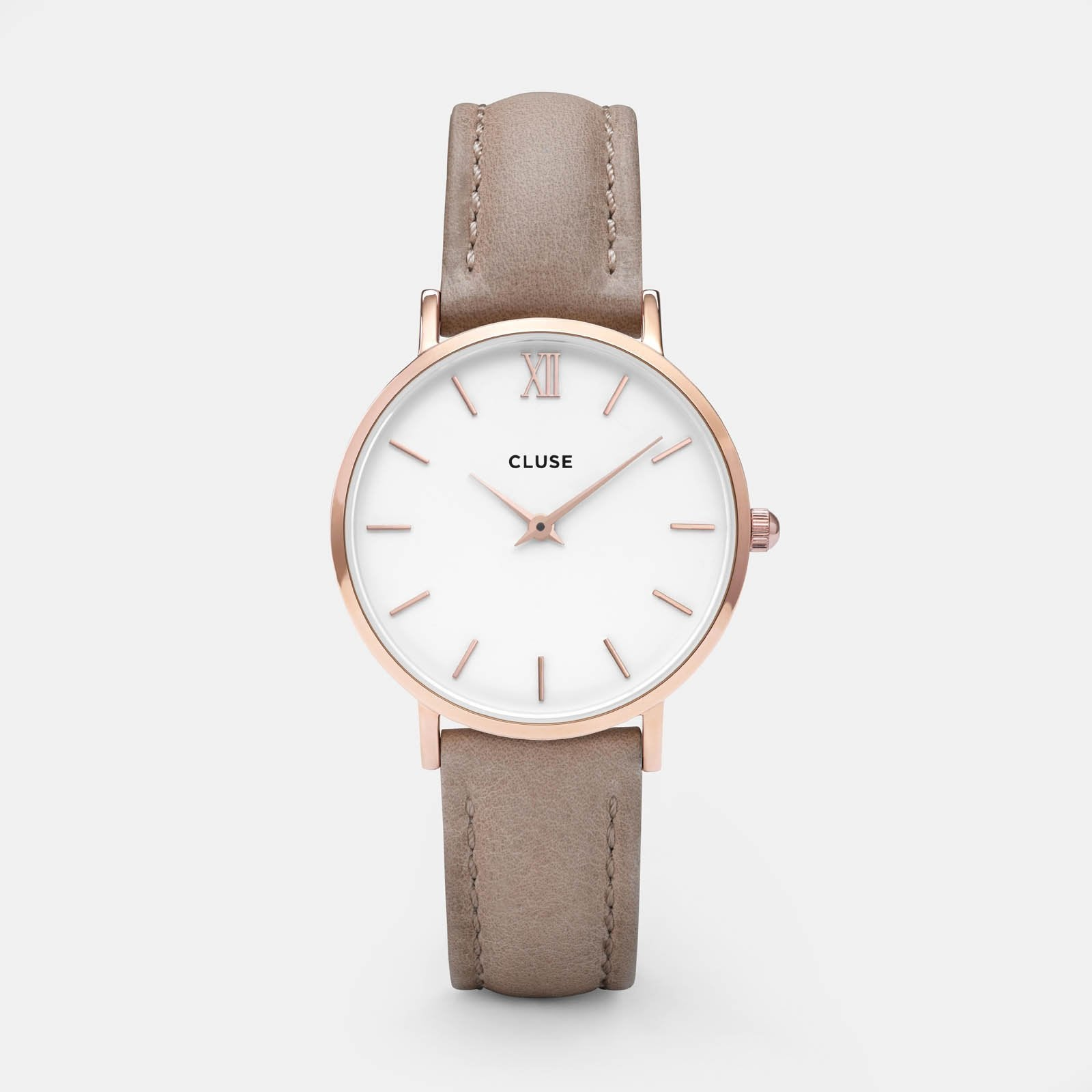 CLUSE Minuit Rose Gold White/Hazelnut CL30043 - Orologio