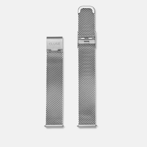 Image: CLUSE 16 mm Strap Mesh Silver CLS345 - Cinturino