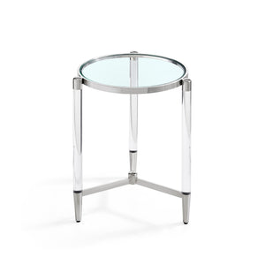 Floating Side Table Silver
