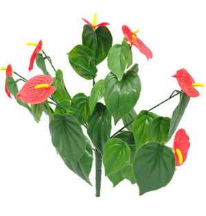 Red Anthurium Stem UV Resistant 35cm