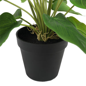 Artificial Flowering White & Orange Peace Lily / Calla Lily Plant 50cm