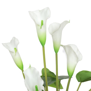 Artificial Flowering White Peace Lily / Calla Lily Plant 50cm