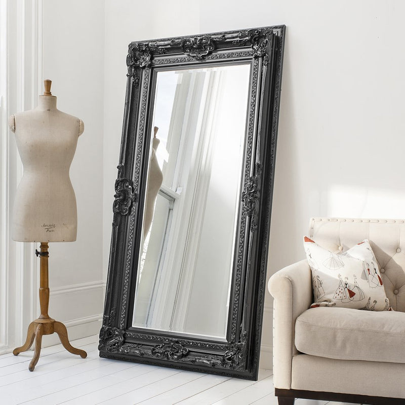 Venice Leaner Mirror Black 1845x990mm - House of Isabella AU