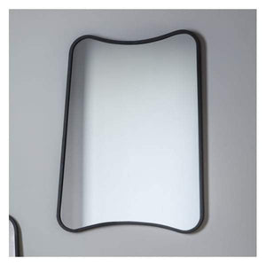 Kurva Black Rectangle Mirror W610 x H810mm