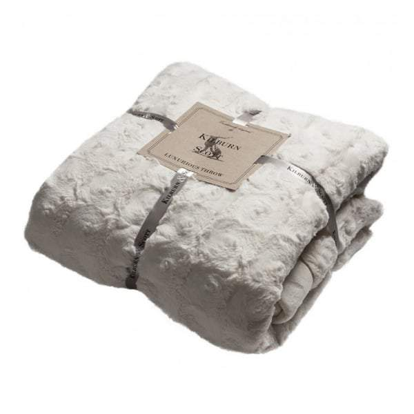 Lomand Luxury Double Sided Cream Faux Fur Throw 1520x1770mm - House of Isabella AU