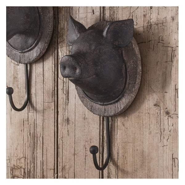 Pig Head Wall Hook 125x110x245mm - House of Isabella AU