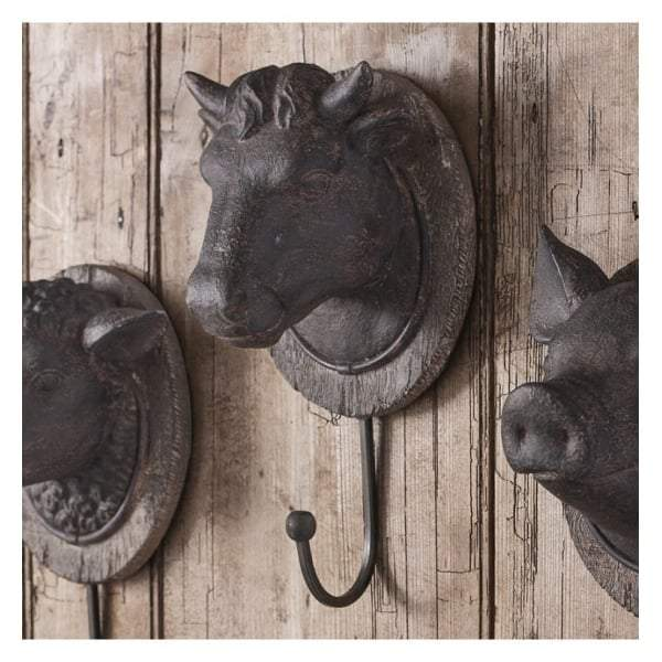 Cow Head Wall Hook 125x110x240mm - House of Isabella AU