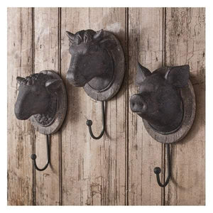 Cow Head Wall Hook 125x110x240mm