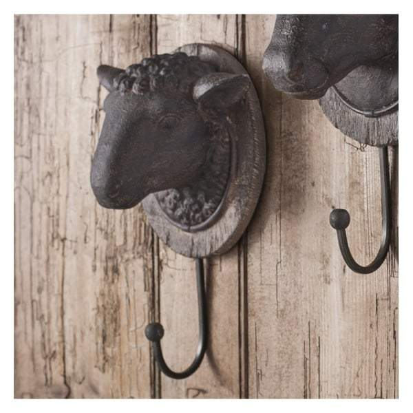 Sheep Head Wall Hook 155x105x240mm - House of Isabella AU
