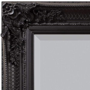 Abadan Leaner Mirror Black 1650x795mm