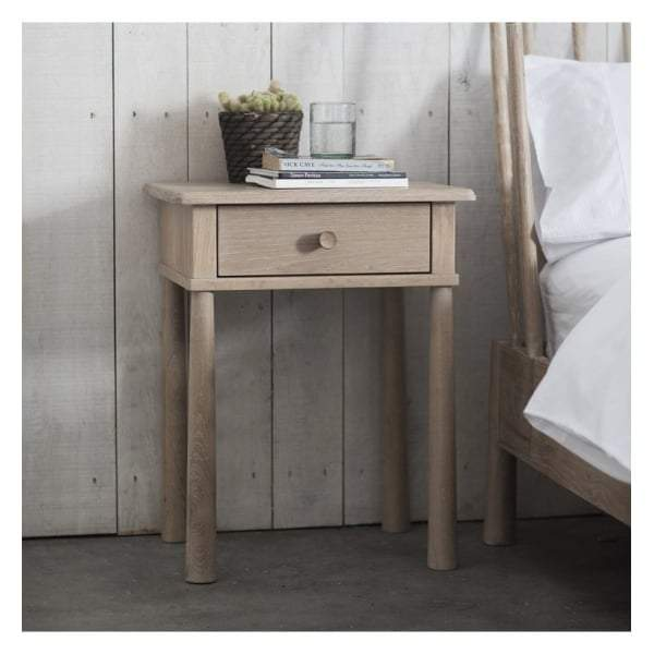 Walter Oak 1 Drawer Bedside