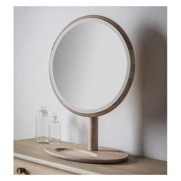 Walter Solid Oak Dressing Mirror 460x635mm - House of Isabella AU