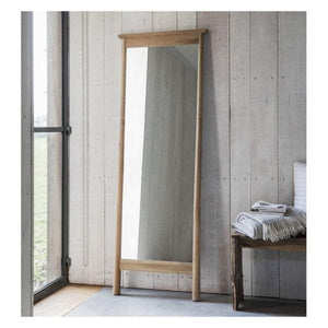 Walter Solid Oak Cheval Mirror 640x1740mm