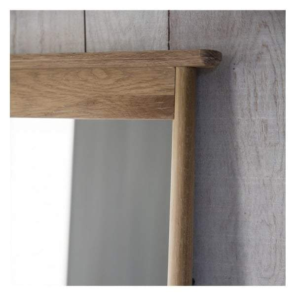 Walter Solid Oak Cheval Mirror 640x1740mm - House of Isabella AU