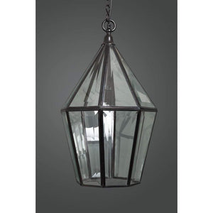 Belmont Glass Lantern Black