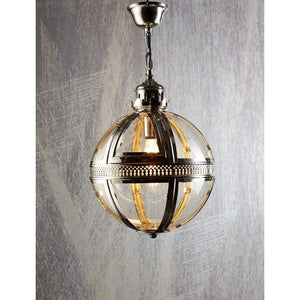 Saxon Pendant Lamp Sml Shiny Nickel
