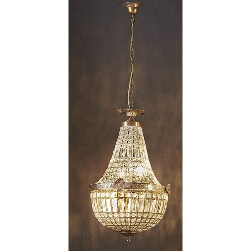 Empire Style Teardrop Chandelier Medium