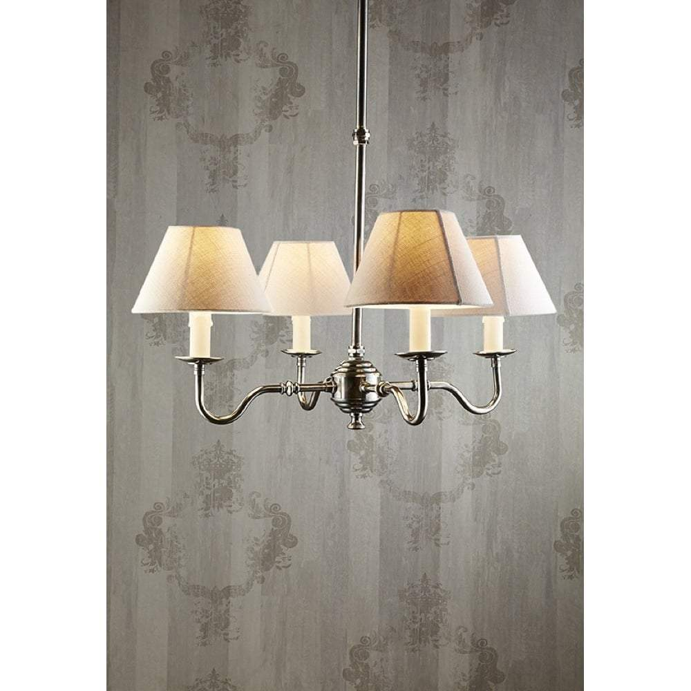 Milton 4 Arm Brass Silver Chandelier Base