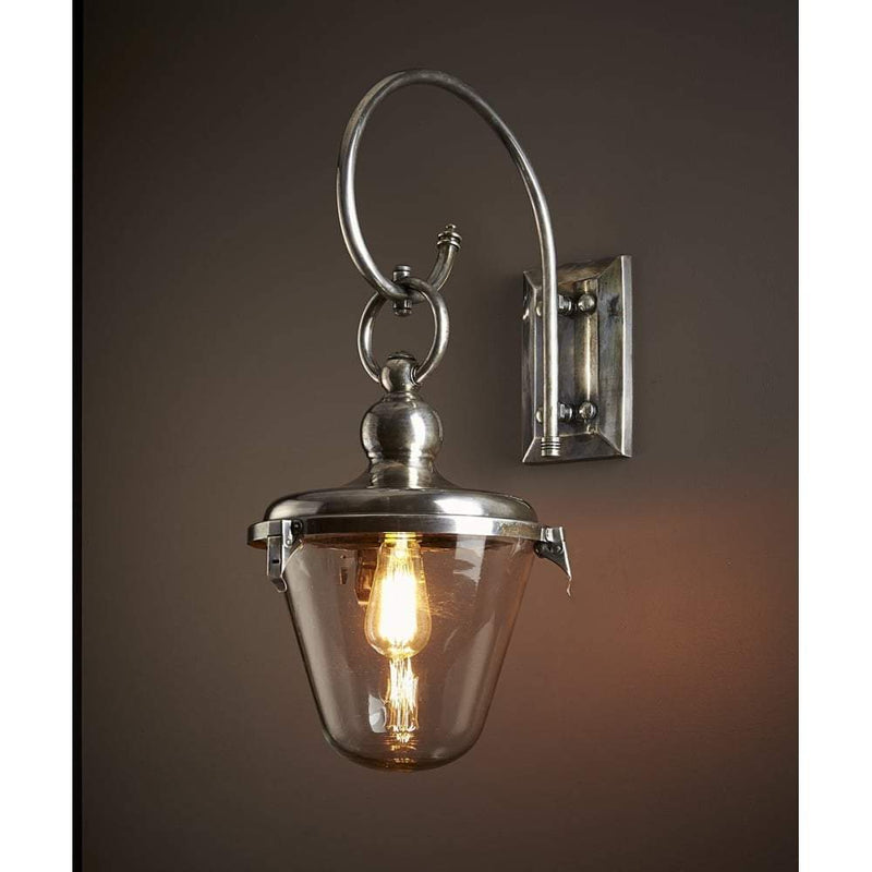Savoy Glass Shade Antique Entry Lamp