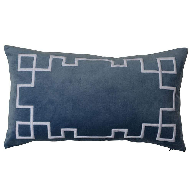Palm Springs Ocean Rect. Cushion Cover with Feather Insert - House of Isabella AU