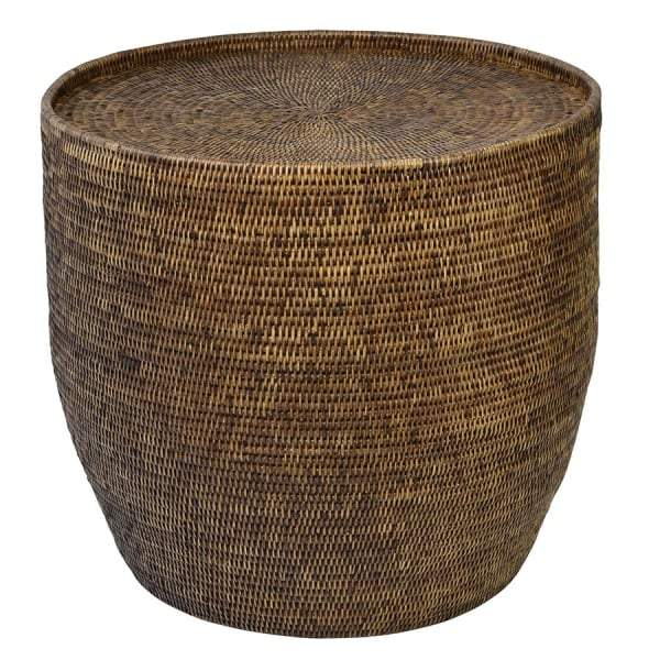 Plantation Rattan Side Table Round - House of Isabella AU