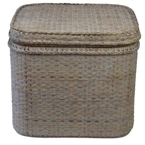 Verandah Natural Rattan Chest Square