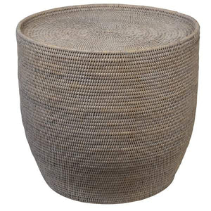 Verandah Natural Rattan Side Table Round