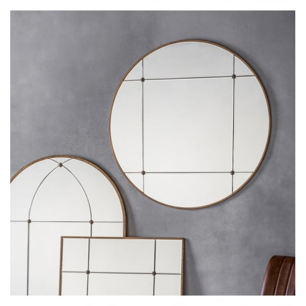Adoni Round Mirror W900 x D15 x H900mm - House of Isabella AU