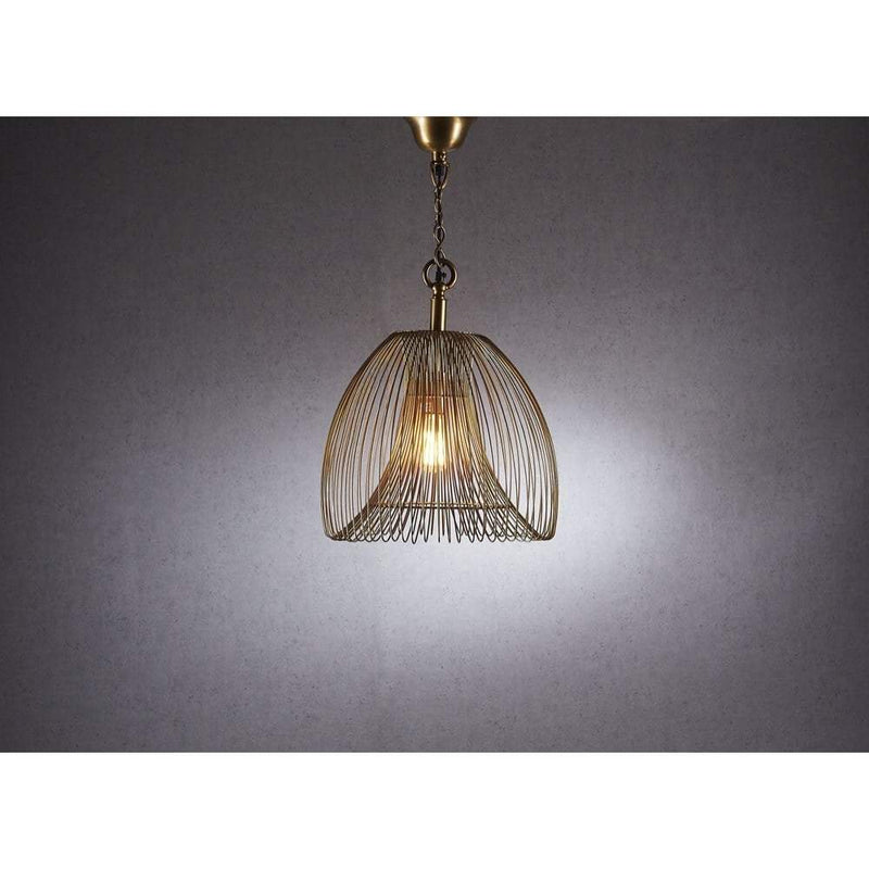 Baker Small Pendant Lamp in Gold - House of Isabella AU
