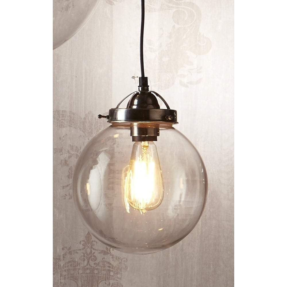 Celeste Small Hanging Lamp in Antique Silver