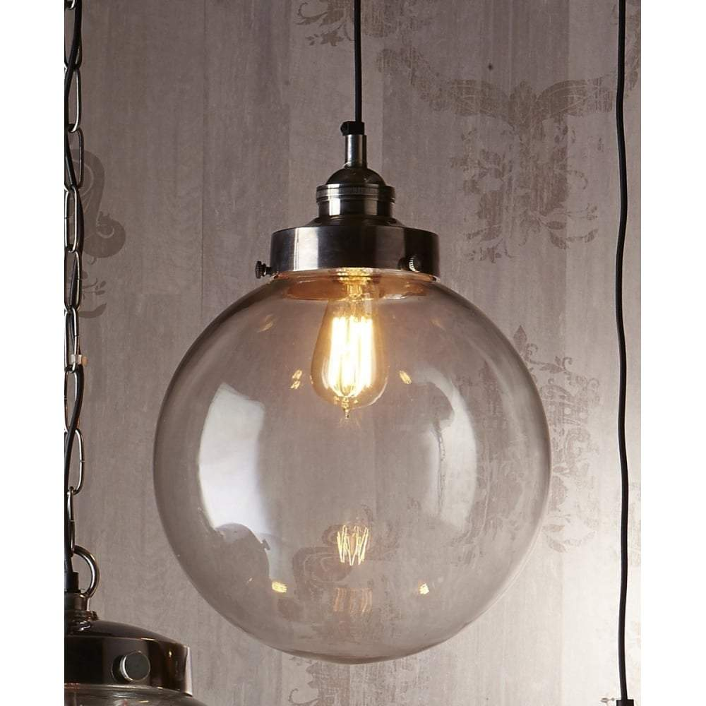 Celeste Medium Hanging Lamp in Silver