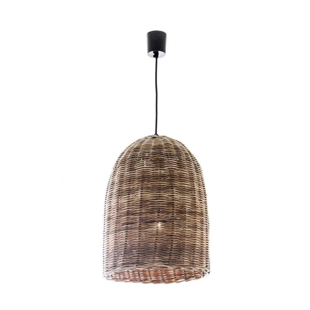 Wicker Bell Hanging Lamp Small