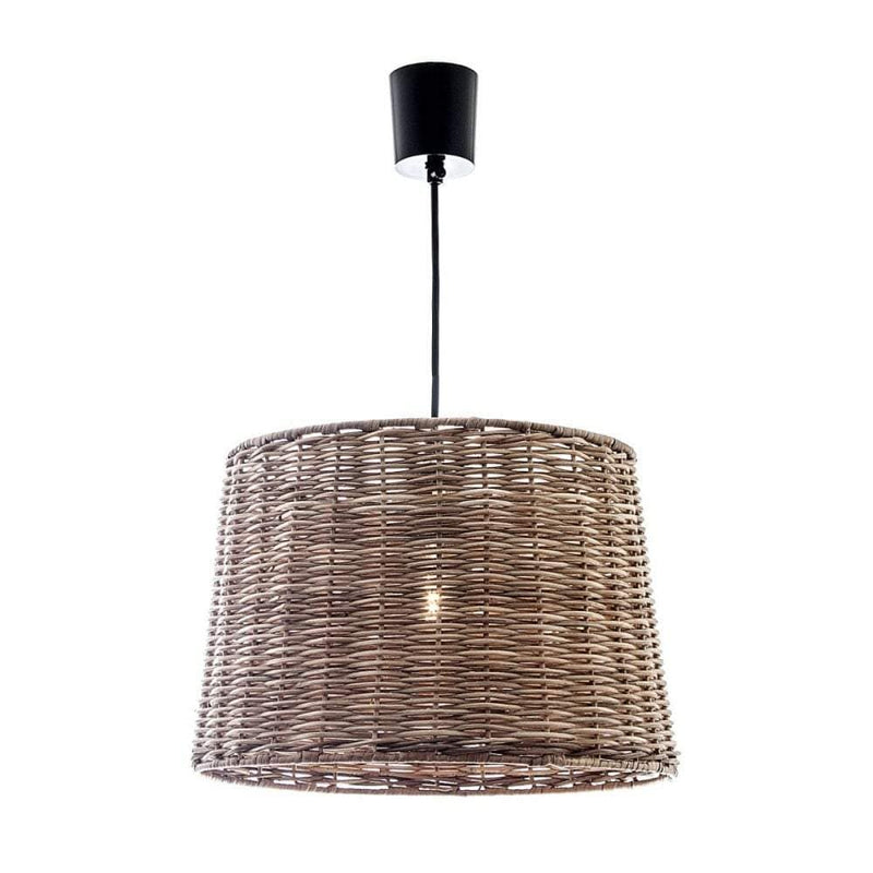 Wicker Round Hanging Lamp Large