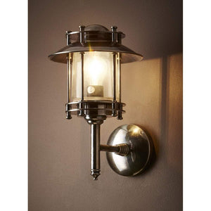 Turner Wall Lamp in Antique Silver