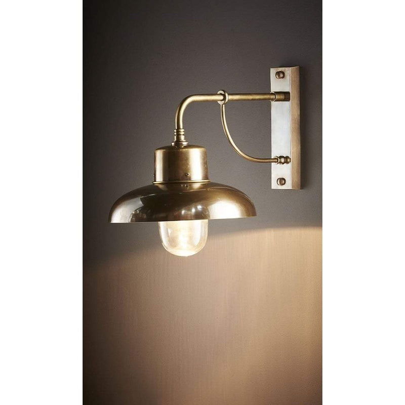 Bridgewater Wall Lamp Outdoor Brass