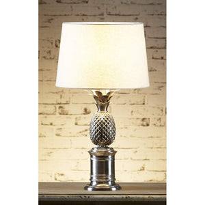 Bermuda Pineapple Table Lamp Base Antique Silver