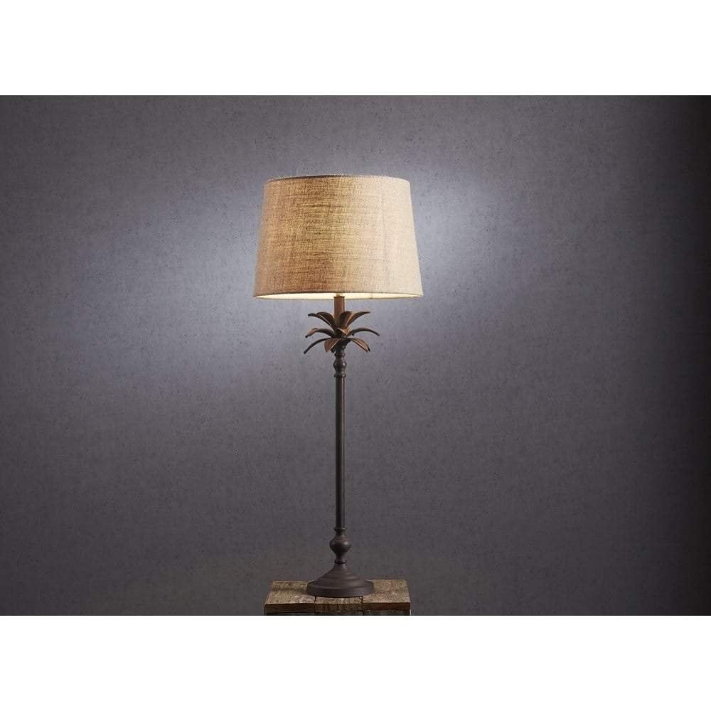 Casablanca Table Lamp Base in Bronze