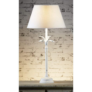 Casablanca Table Lamp Base White